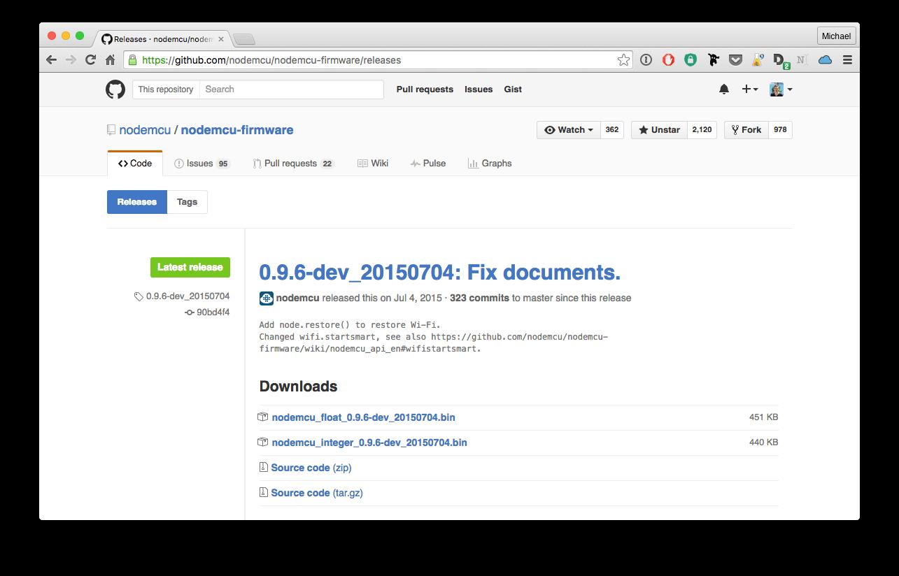 NodeMCU firmware download