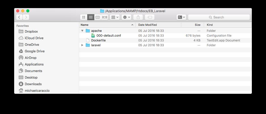 Docker + Laravel + PHP7 + AWS Elastic Beanstalk