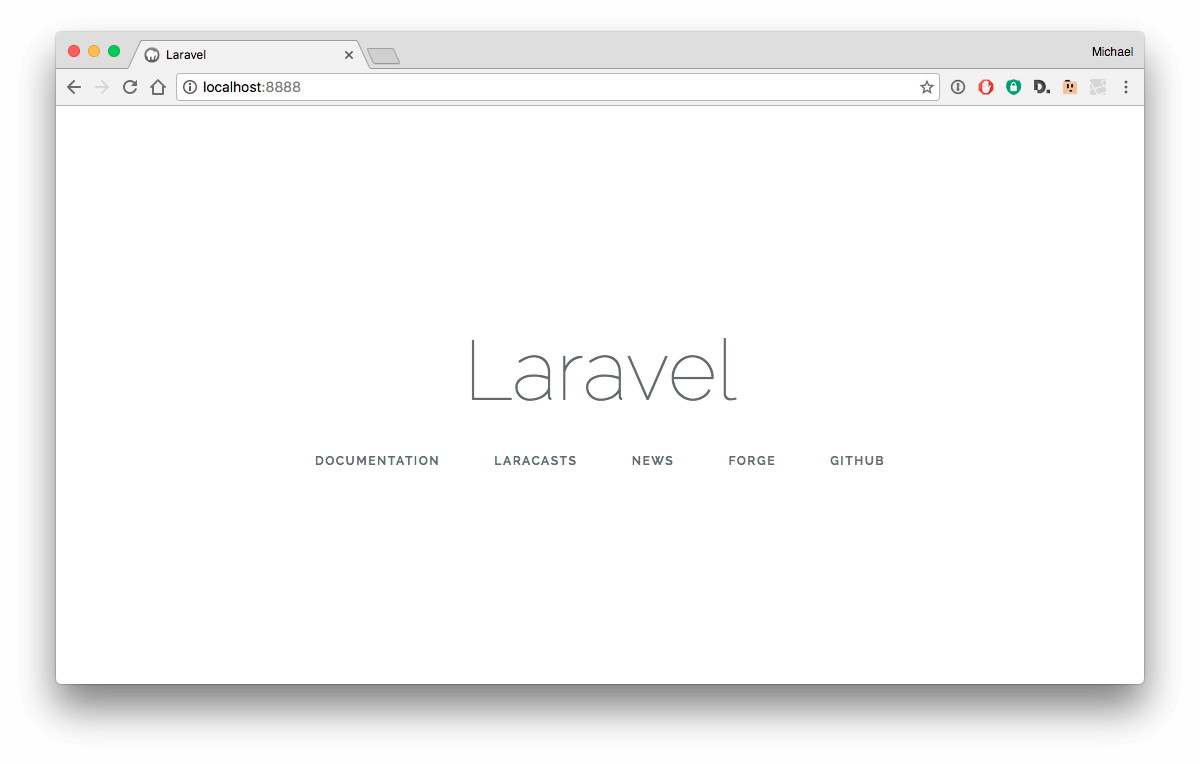 Laravel 5.3 installation