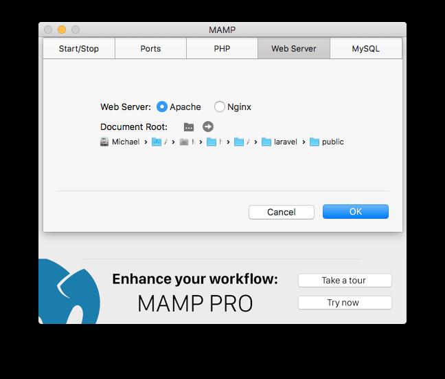 MAMP Configuration